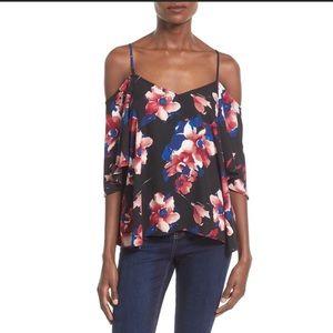 Leith cold shoulder floral top